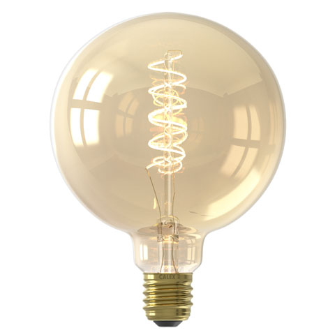 Flexible Filament Globe G125 Gold