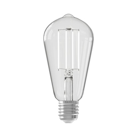 Smart Rustiek Clear led lamp 7W 806lm 1800-3000K